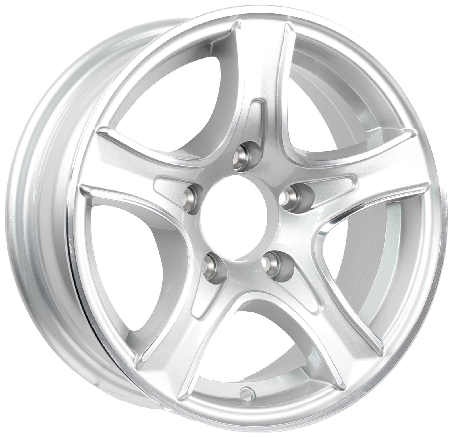 Thoroughbred 14x5.5 5-Lug Silver Aluminum Trailer Wheel Image