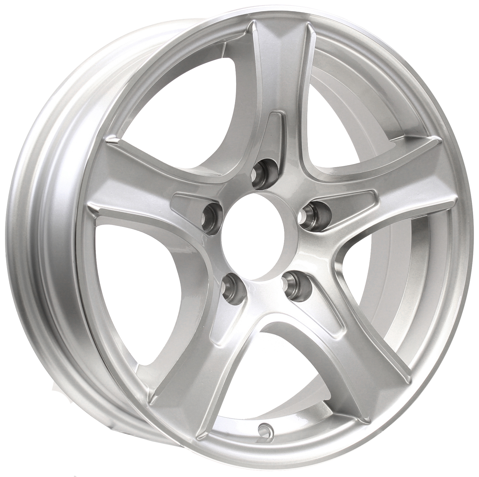 Thoroughbred 15x5 5-Lug Silver Aluminum Trailer Wheel Image