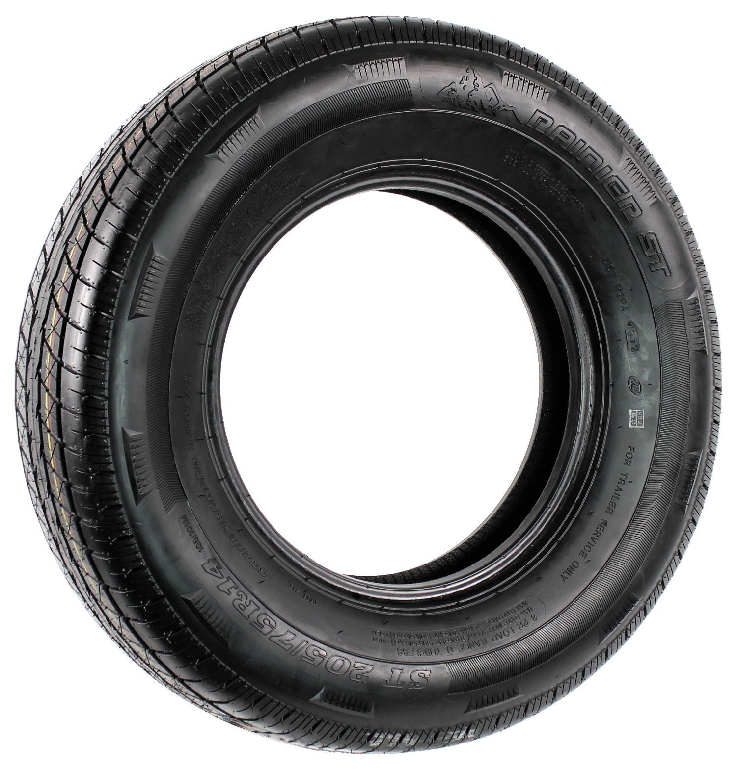 Rainier ST205/75R14 LRD 8-Ply Radial Trailer Tire Image