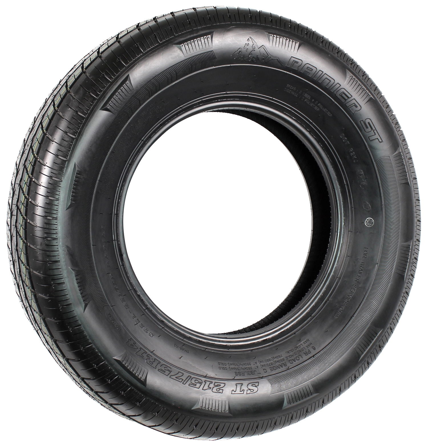 Rainier ST215/75R14 LRC 6-Ply Radial Trailer Tire Image