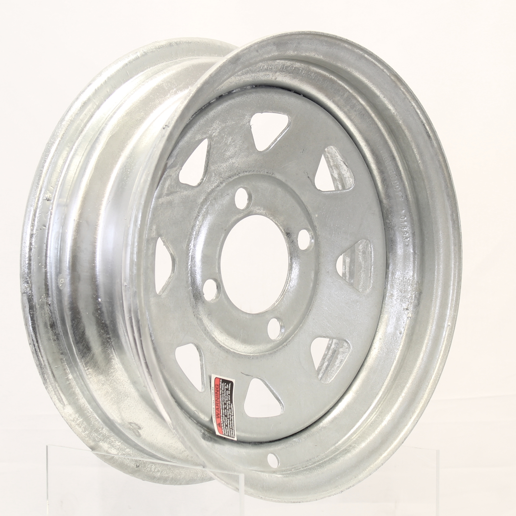 12x4 4-Lug Galvanized Spoke Steel Trailer Wheel Image