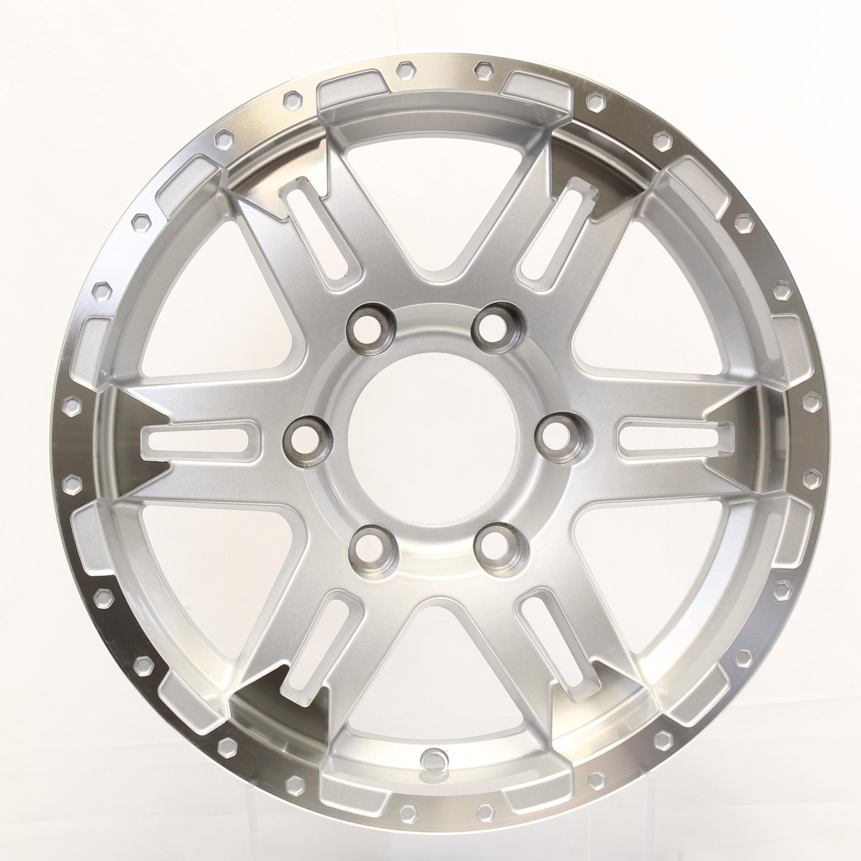 Turismo 15x6; 6-Lug Silver/Machine Aluminum Trailer Wheel Image