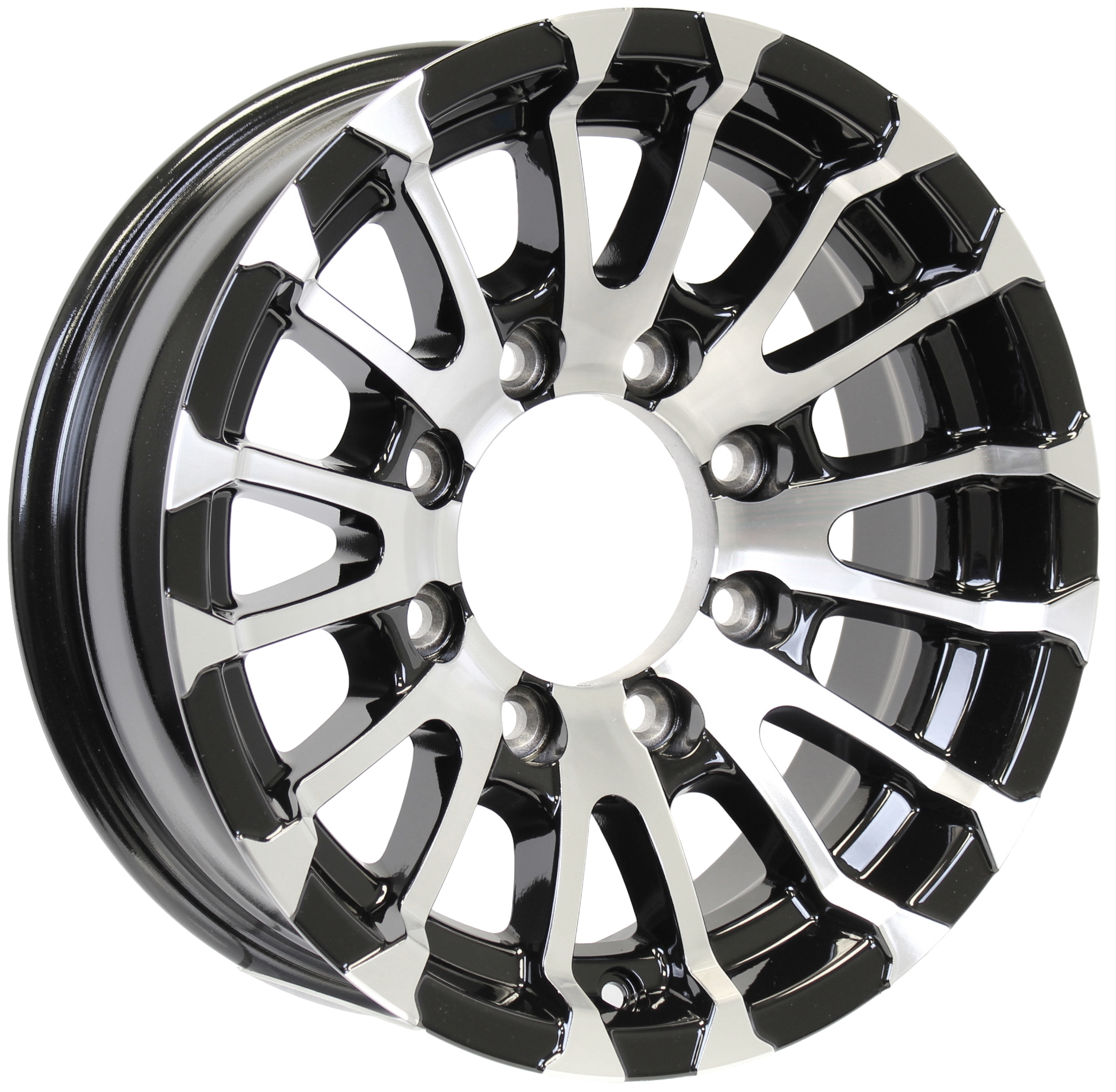 Avalanche 16x6; 8-Lug Black Aluminum Trailer Wheel Image
