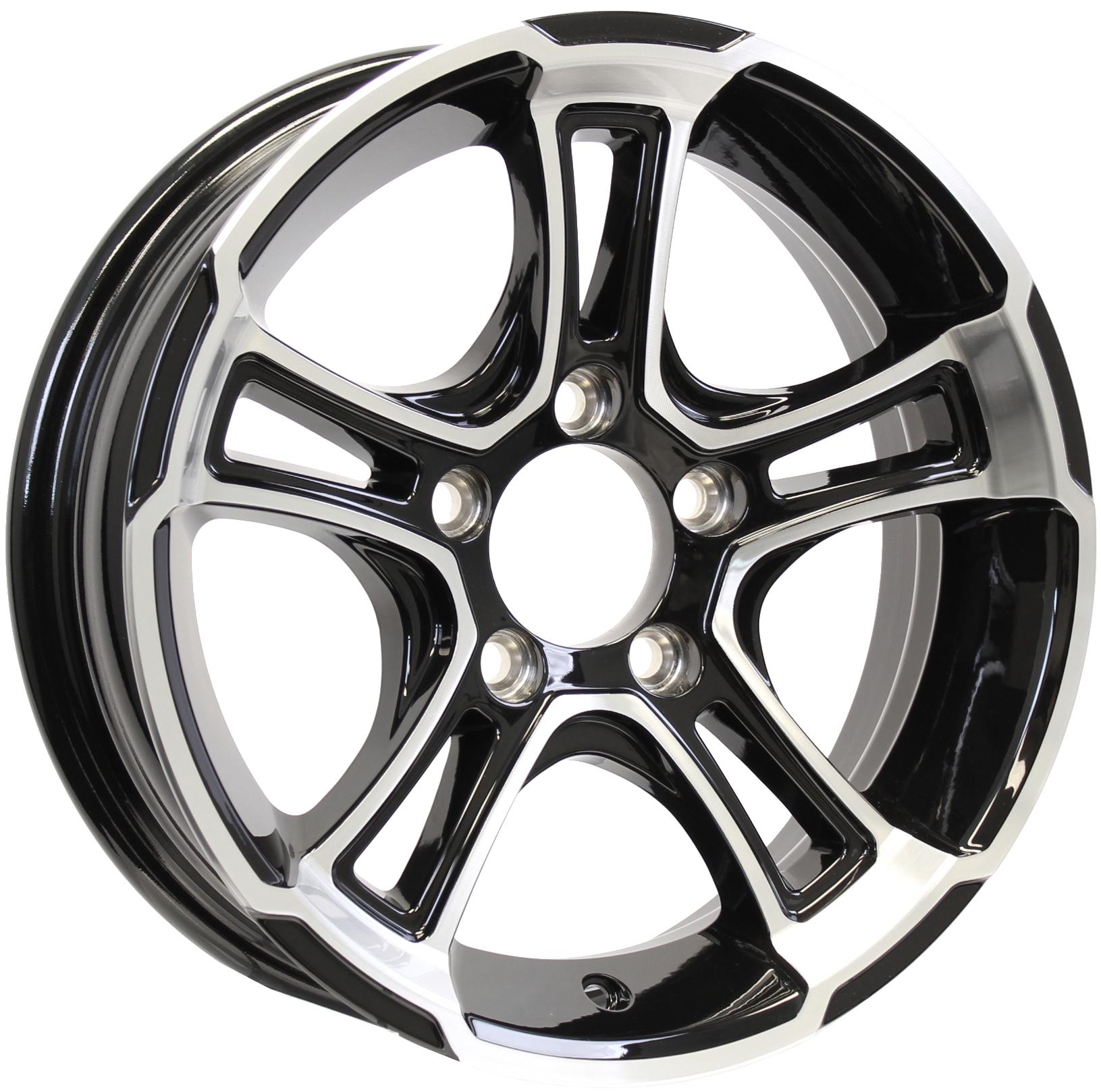 Whitehawk 15x5 5-4.5 Black Aluminum Trailer Wheel Image