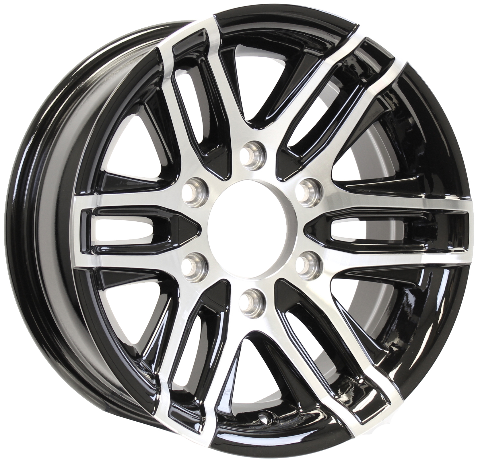 Altitude- 15x6 6-Lug Black Aluminum Trailer Wheel Image