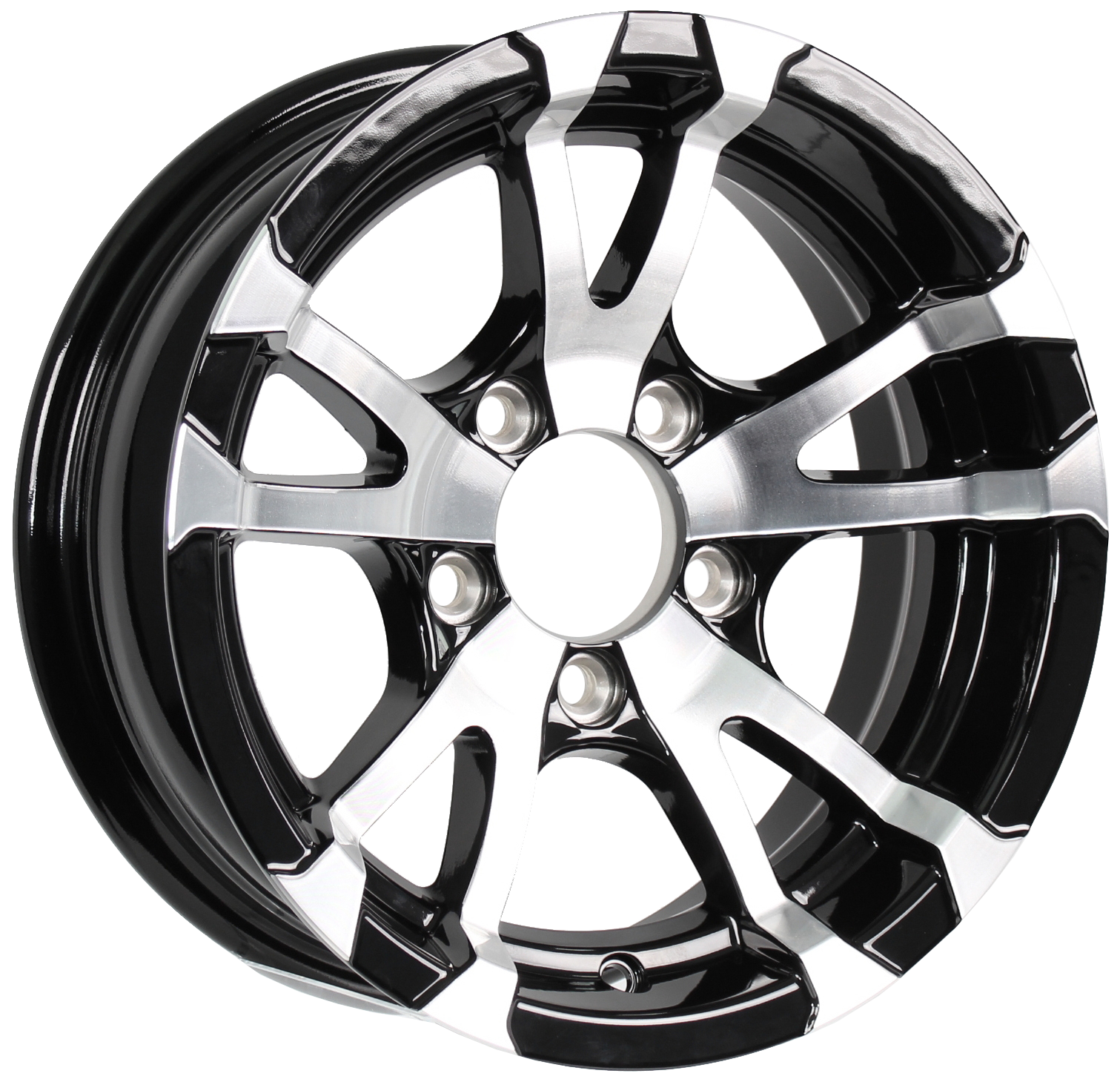Avalanche 14x5.5 5-Lug Black Aluminum Trailer Wheel Image