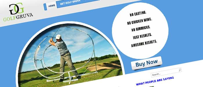 Another Golf Website Design by Affordable Web Design