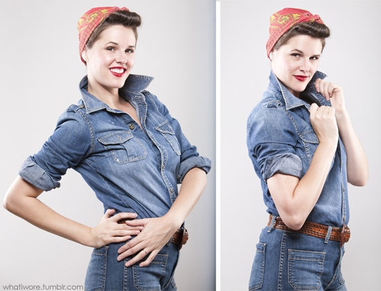 rosie the riveter rosie the riveter costume homemade halloween diy halloween costume - Rosie The Riveter Halloween Costume