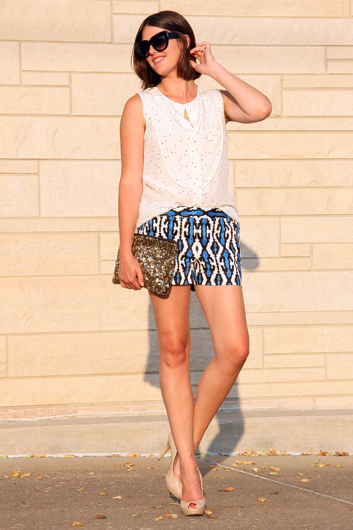 Jessica Quirk, What I Wore, Summer Outfit, Nicole by Nicole Miller at JCP, JC Penney, Tibi, Sequin Clutch, What to wear when it's 100 degrees