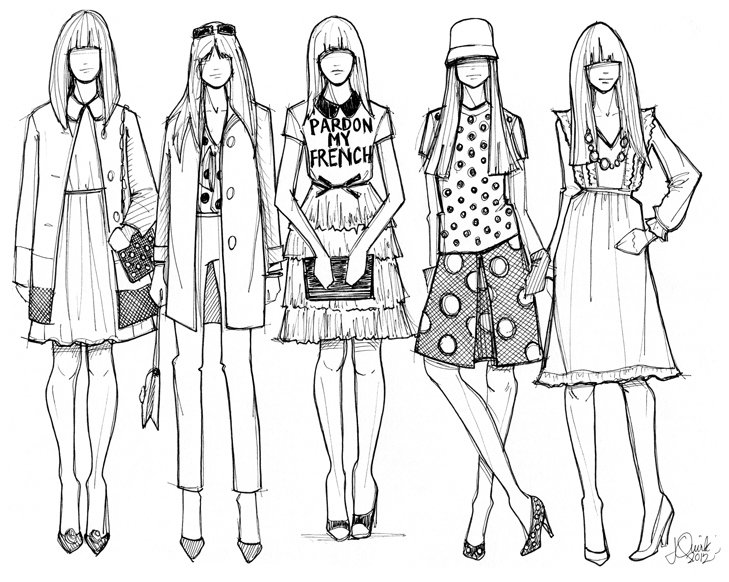 Jessica Quirk, What I Wore, Illustration, Kate Spade New York Fall 2012