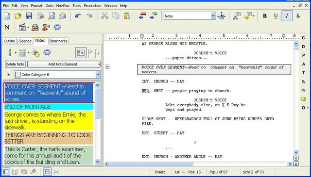 Movie Magic Screenwriter screenshot