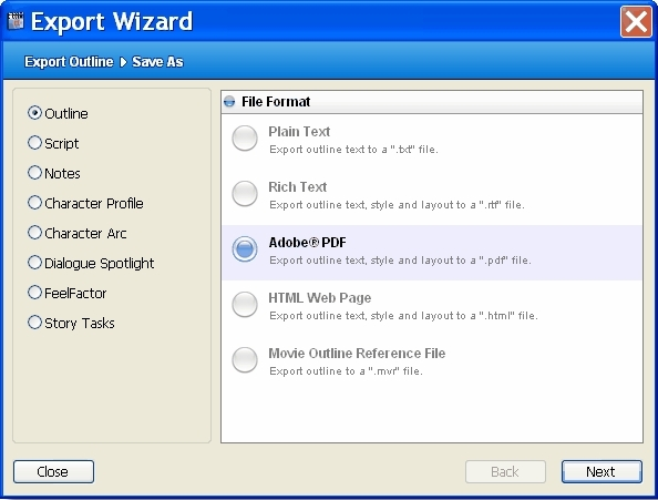 Free movie outline software