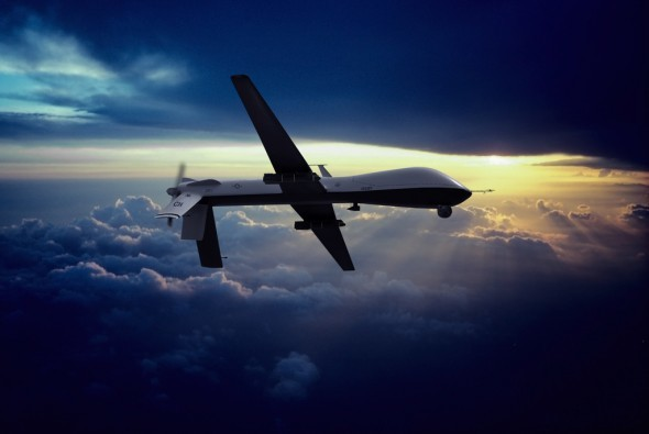 MQ-1 Predator Flying at Sunset - Charles McCain/Flickr