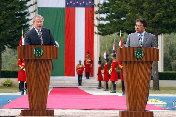 Bush and Musharraf- Flickr/Marion Doss