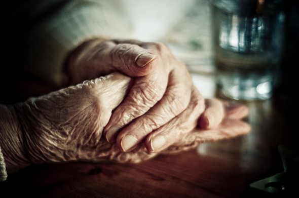 Grandmother's hands by Zanthia on Flickr