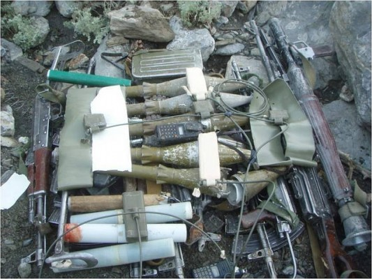 Weapons cache seized from the Haqqani network - Flickr/isafmedia