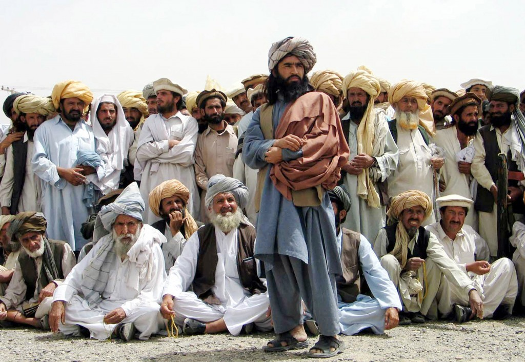 Nek Mohammed speaks at a Jirga three weeks before he died in a CIA drone strike (Reuters/Kamran Wazir)