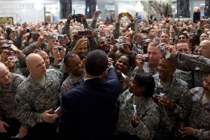 President Obama meets troops US in Iraq by The US Army/Flickr