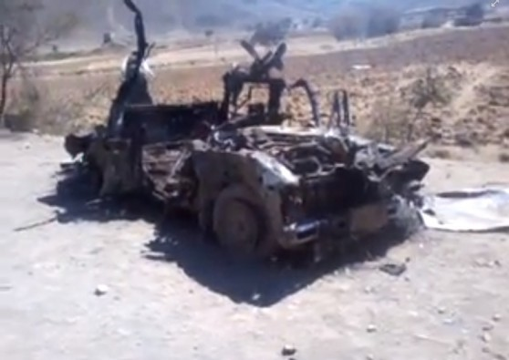 Destroyed vehicle YEM133