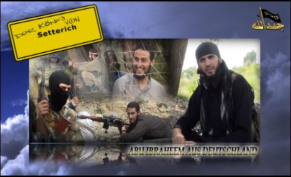 A collage of images of Ahmed B as part of a video eulogy produced by the terrorist organisation The Islamic Movement of Uzbekistan