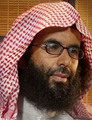 A headshot of Ibrahim al Rubaysh/Ibrahim al Rubaish - a senior figure in al Qaeda in the Arabian Peninsula. He was originally from Saudi Arabia, spent time in Pakistan and Afghanistan and was in Guantanamo Bay prison too.