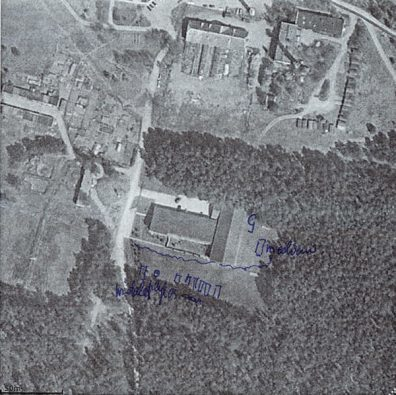 A satellite image of a CIA black site in Lithuania annotated by a local resident to show building works
