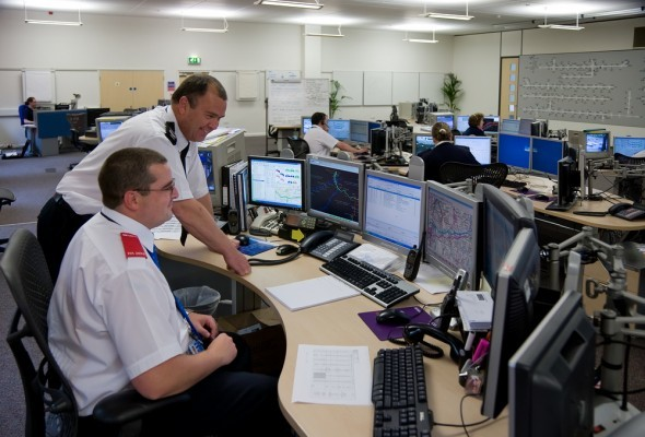 Police in a Force Control Centre