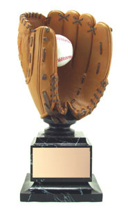 Full Color Full Size Baseball Glove Trophy 15.5""