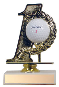 "5"" Number One Golf Trophy"