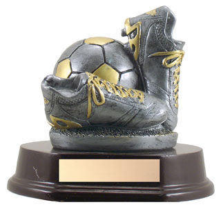 5.5 in Soccer Ball and Shoes Trophy
