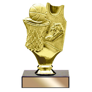 "5"" Gold Basketball Trophy"