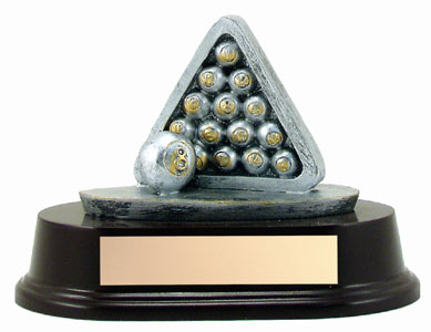 4 in Billards Resin Sculpture