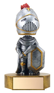 6 in Knight Mascot Bobble Head