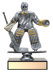"5"" Resin Goalie Hockey Trophy"