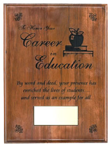 Career Honors Plaque