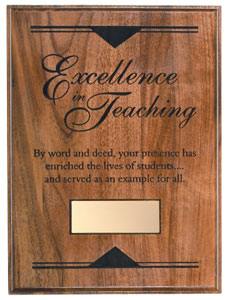 Teaching Honors Plaque