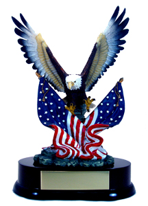 "11"" Eagle w/ Two Flags"