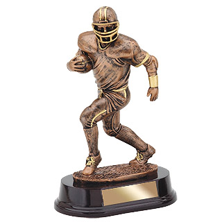 "9"" Bronze Football Resin Trophy"