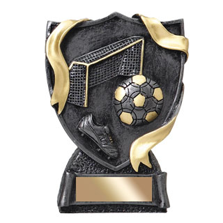 4-3/4 in Soccer Shield Resin Trophy