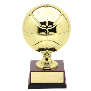 15 in Plated Brass Basketball Trophy