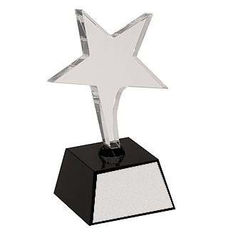 "7.5"" Crystal Shooting Star Award"