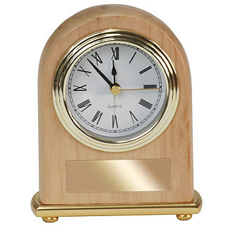 Red Alder Arch Desk Clock
