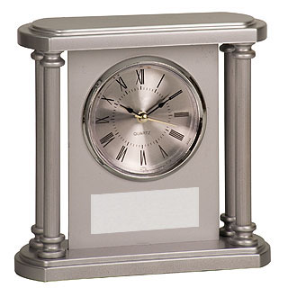 4 Column Plastic Promotional Clock