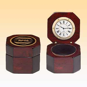 Rosewood Piano Finish Desktop Clock