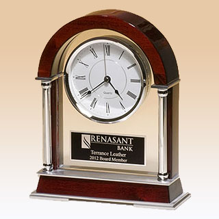 Rosewood Piano Finish Mantle Clock