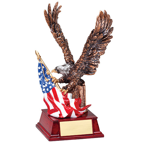 "9-1/4"" Eagle w/ Flag Resin"