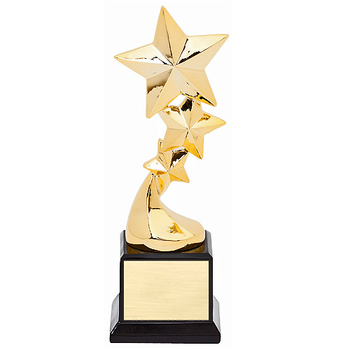 "8-1/4"" Tri-Star Resin Trophy"