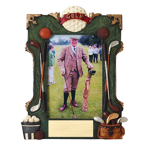7 in Golf Resin Sports Photo Plaque