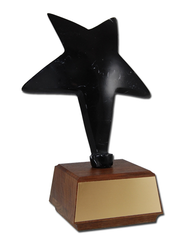 11 in Black Marble Star Trophy