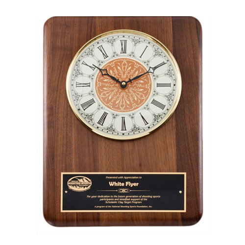 "11"" x 15"" Genuine Walnut Clock Plaque"